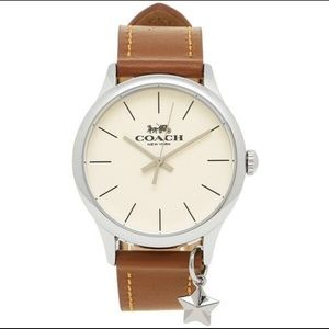 🔥Coach Ruby Brown Watch With Star Charm🎁🌹